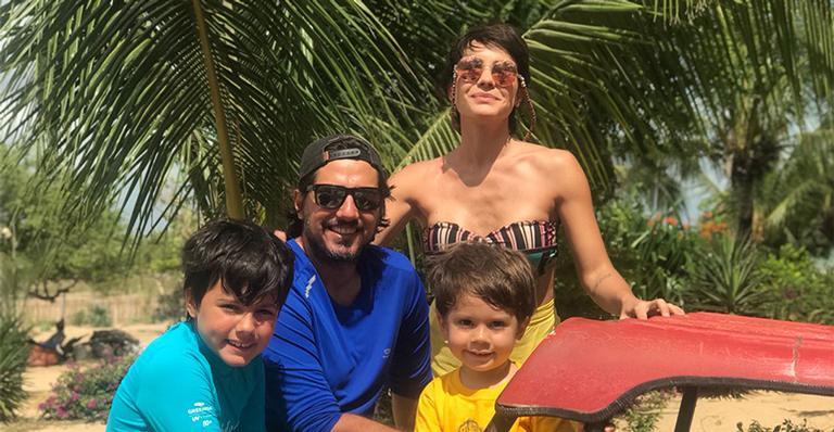 Juliana Knust e a família