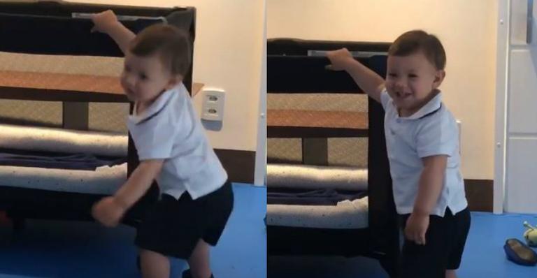 Andressa Suita flagra Gabriel dançando sozinho pela primeira vez