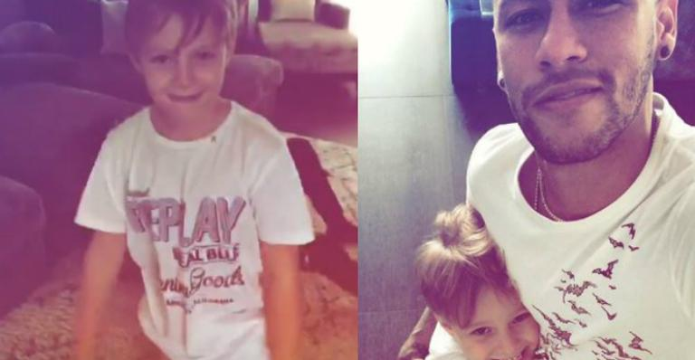 Neymar curte último dia de férias ao lado do filho