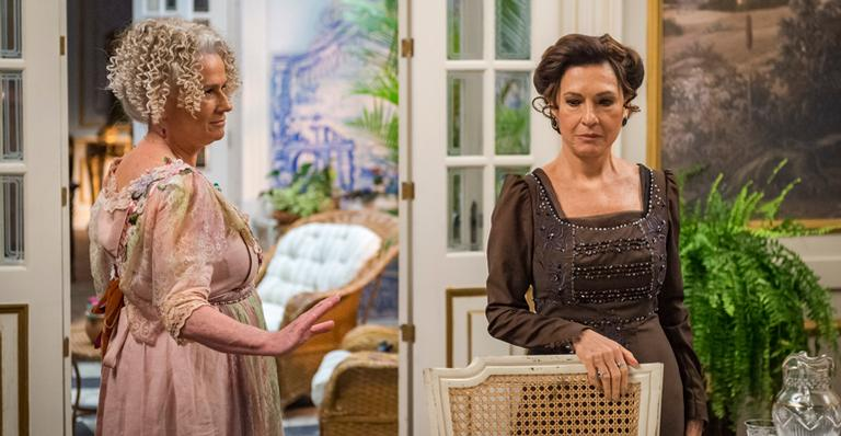 Hoje em 'Orgulho e Paixão': Ofélia enfrenta Lady Margareth