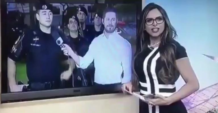 Repórter que deu em cima de tenente em programa ao vivo anuncia noivado