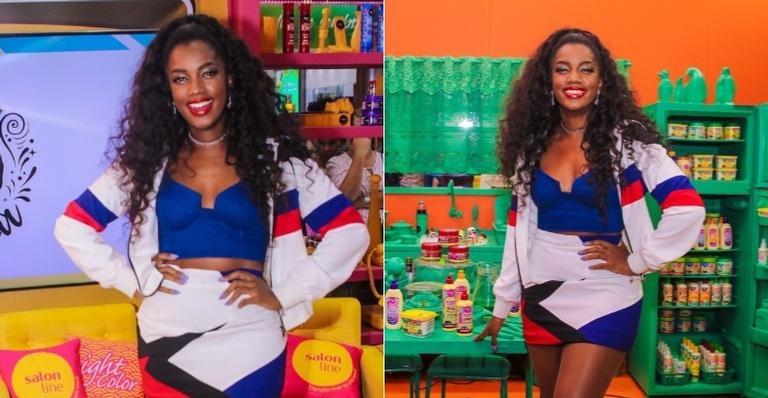 A cantora marcou presença durante feira de beleza em São Paulo