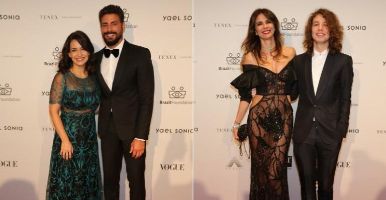 Ele e outras celebridades brasileiras cruzaram o red carpet do baile de gala