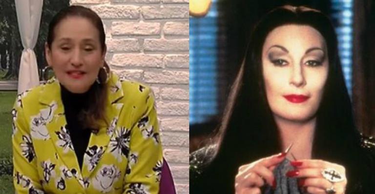 Sonia Abrão clique antigo em preto e branco fãs compararam com personagem de 'A Família Addams'