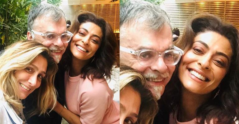 Amora Mautner, Walcyr Carrasco e Juliana Paes
