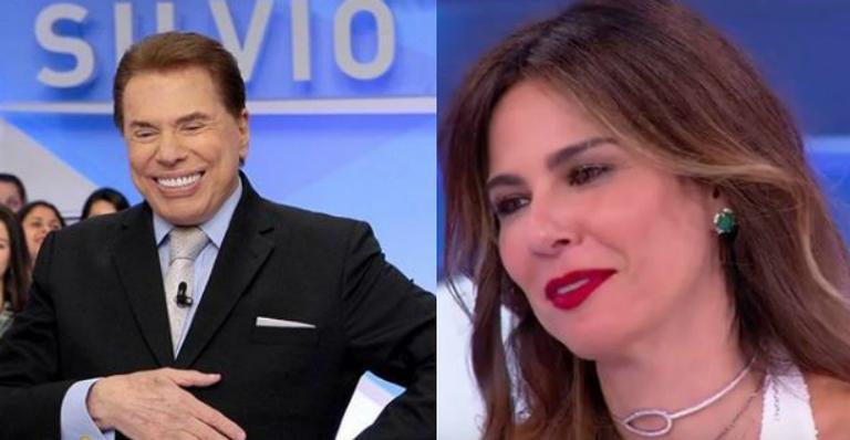 Luciana Gimenez evita falar sobre ex-marido durante programa de Silvio Santos