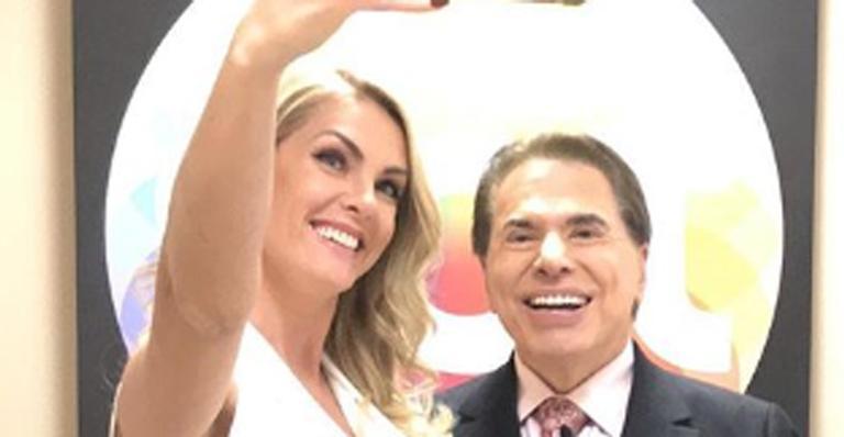 Ana Hickmann e Silvio Santos