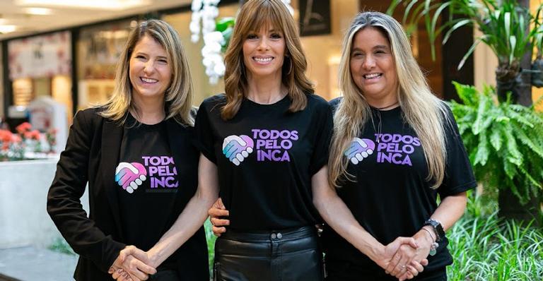 Fabiana Misse, Ana Furtado e Renata Ciraudo organizadoras do bazar Todos pelo INCA