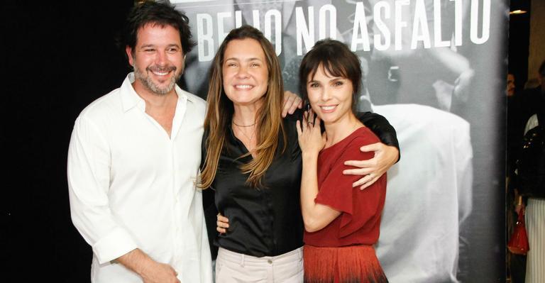 Murilo Benício, Adriana Esteve e Débora Falabella