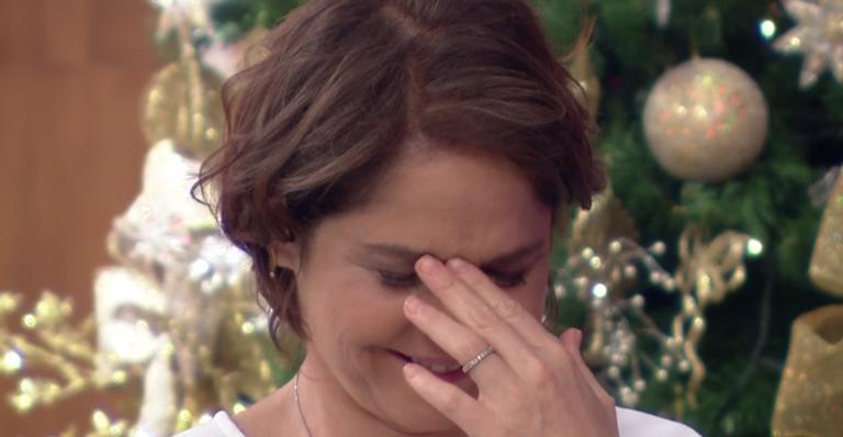 Matheus, adotado pela atriz em 2009, arrancou risos da plateia