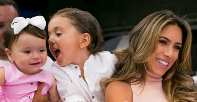 Patrícia Abravanel se diverte ao levar os filhos para trabalho: ''Tudo com eles vira uma festa''