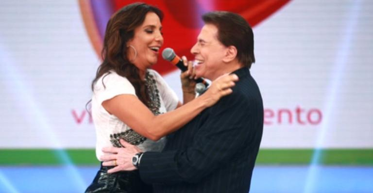 Ivete Sangalo e Silvio Santos