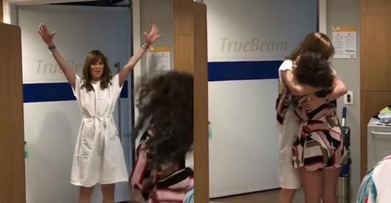 Ana Furtado celebra última sessão de radioterapia: ''A cura é minha!''