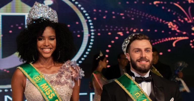 Adryelle e Gabriel vão representar o país em vários concursos