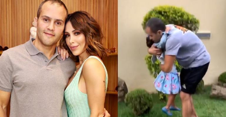 Bella Falconi emociona fãs ao mostrar reencontro do marido com filha