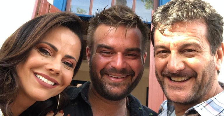Viviane, Davi e Roberto: camaradagem