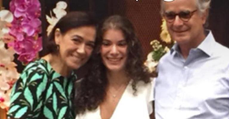 Lilia Cabral e a família