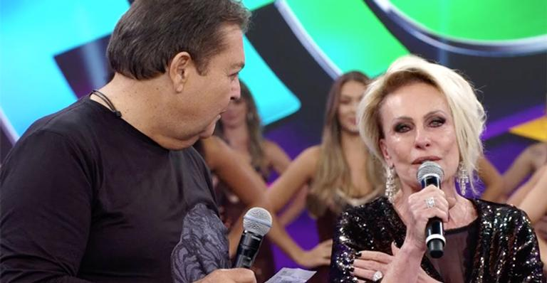 Ana Maria Braga cai no choro no 'Domingão do Faustão'