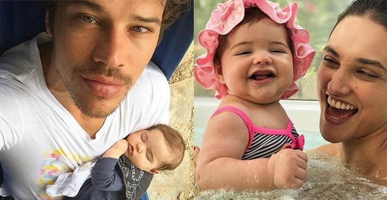 José Loreto e Débora Nascimento com a filha, Bella