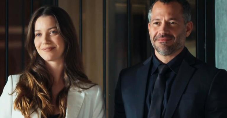 Nathalia Dill como Fabiana e Malvino Salvador como Agno em 'A Dona do Pedaço'