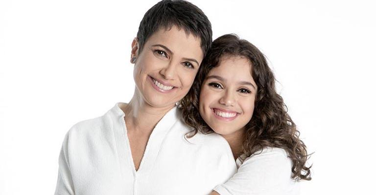 Sandra Annenberg e a filha
