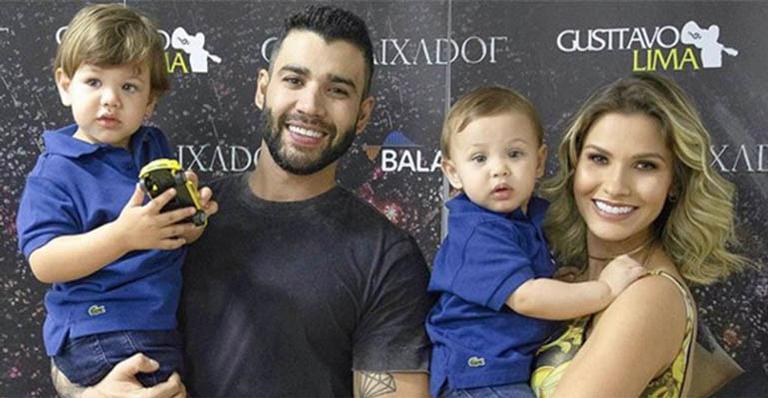 Esposa de Gusttavo Lima sofre com o ciúme do filho e revela atitude para contornar a situação