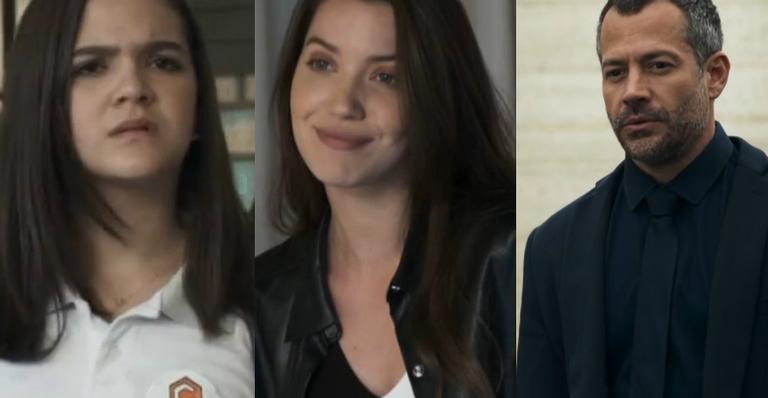 Mel Maia, Nathalia Dill e Malvino Salvador em 'A Dona do Pedaço'
