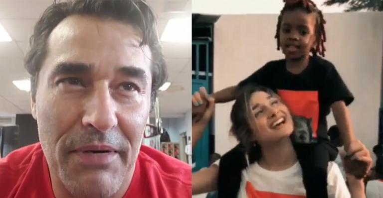 Em depoimento, ator mostra sua admiração pela filha que está na África