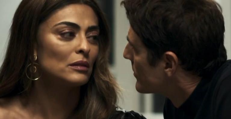 Juliana Paes e Reynaldo Gianecchini em 'A Dona do Pedaço'
