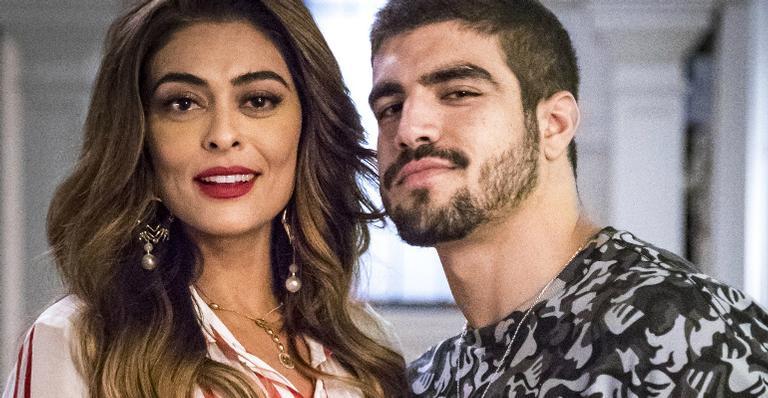 Juliana Paes como Maria da Paz e Caio Castro como Rock em 'A Dona do Pedaço'