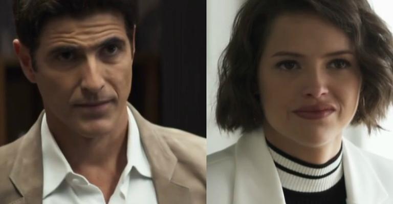 Reynaldo Gianecchini e Agatha Moreira em 'A Dona do Pedaço'
