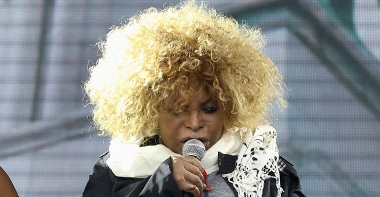 A cantora esteve presente na coletiva de apresentação na Cidade do Rock nesta terça-feira (24)