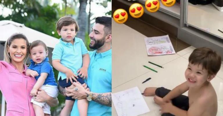 Filho de dois aninhos de Suita elogia look da mãe: ''Princesa!''