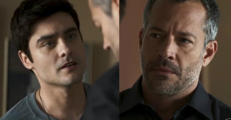 Guilherme Leicam como Leandro e Malvino Salvador como Agno em 'A Dona do Pedaço'