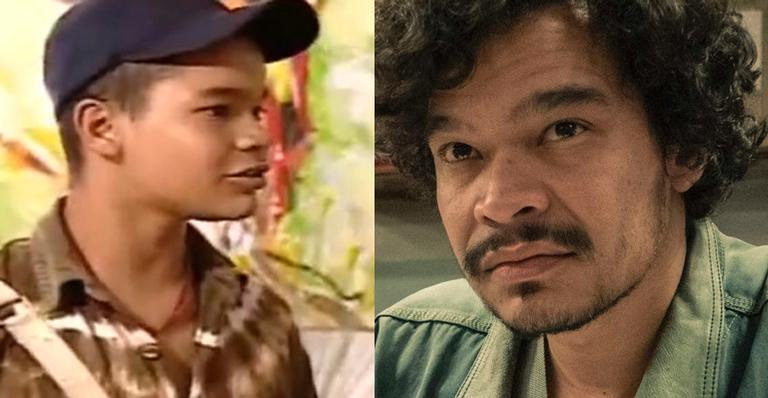 Montagem com o ator José Trassi em 'Sandy e Junior' e em 'Segunda Chamada'