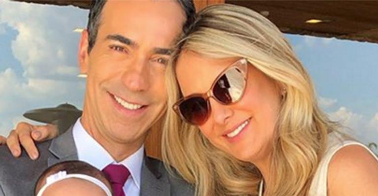 Ticiane Pinheiro encanta ao surgir com Cesar Tralli e a filha caçula, Manuella, em novas fotos