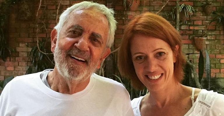 Bel Kutner emociona ao mostrar imagem rara de Paulo José, que sofre do Mal de Parkinson