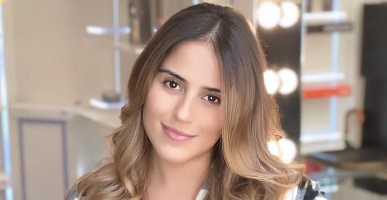 Camilla Camargo comemora 3 meses de Joaquim com clique fofo