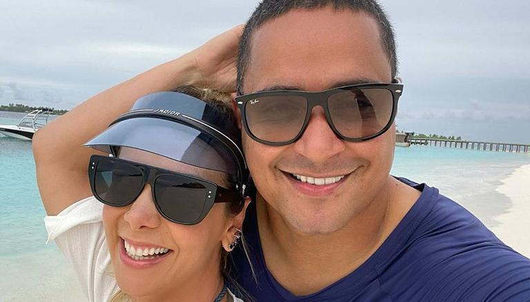 O casal está curtindo a segunda lua-de-mel nas Maldivas
