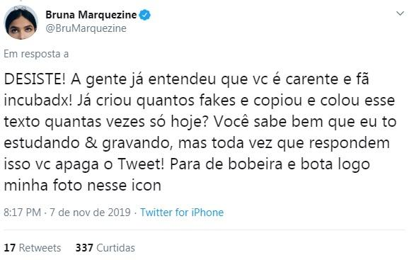 Bruna Marquezine detona haters