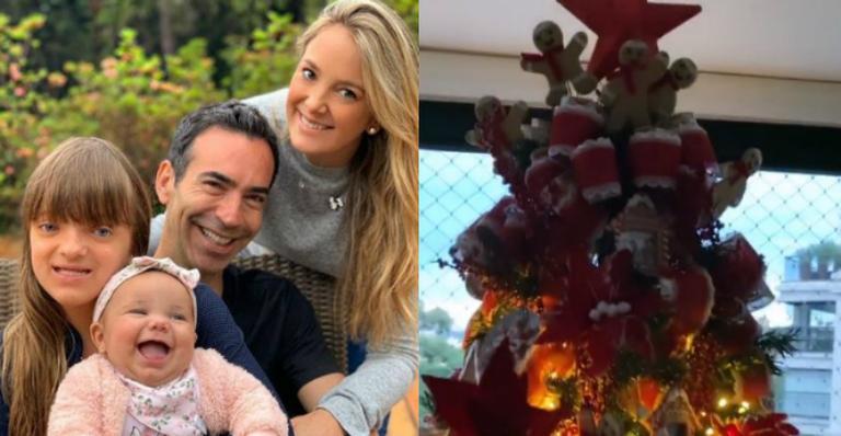 Apresentadora derreteu fãs com a decoração especial de natal da família