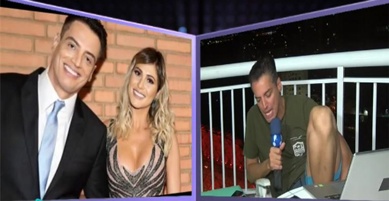 Ao vivo na TV, ele relata duas brigas pesadas com a apresentadora do Fofocalizando