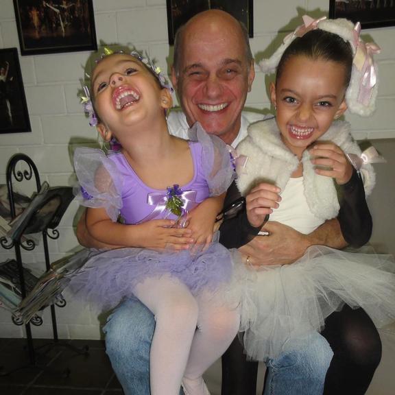 Ricardo Boechat e as filhas