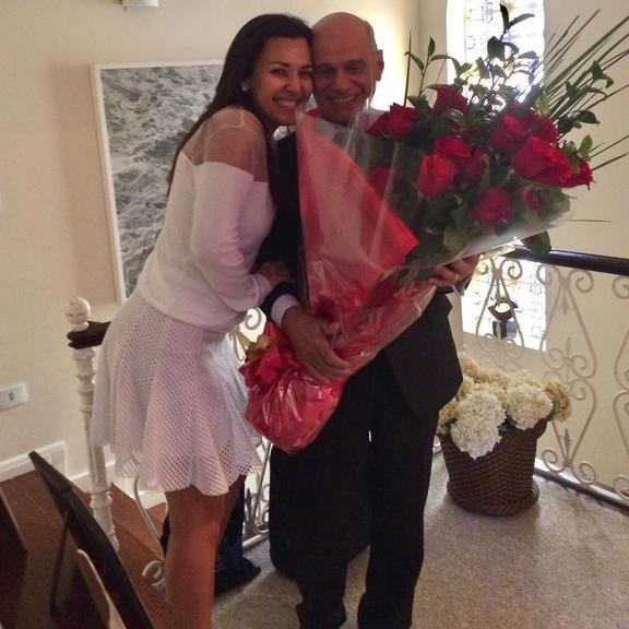 Veruska e Ricardo Boechat