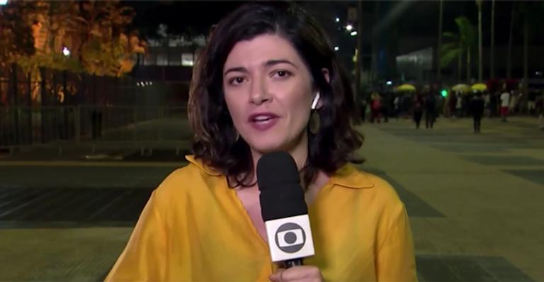 Homem ataca repórter da Globo para fazer protesto em telejornal: 'Teve o trabalho interrompido'