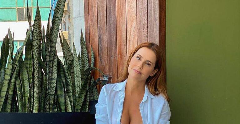 A atriz não se aguentou de tanto amor da filha, Maria Flor e compartilhou vídeos na web