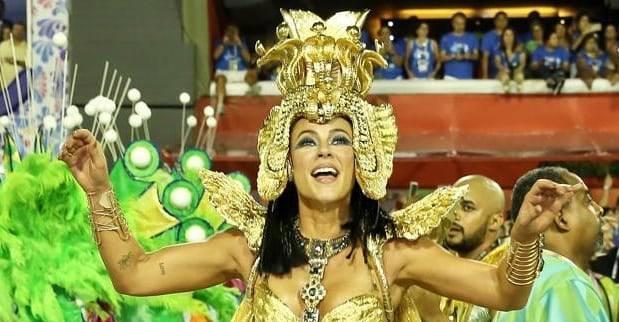 A atriz fez um textão e declarou o seu amor pela escola da samba