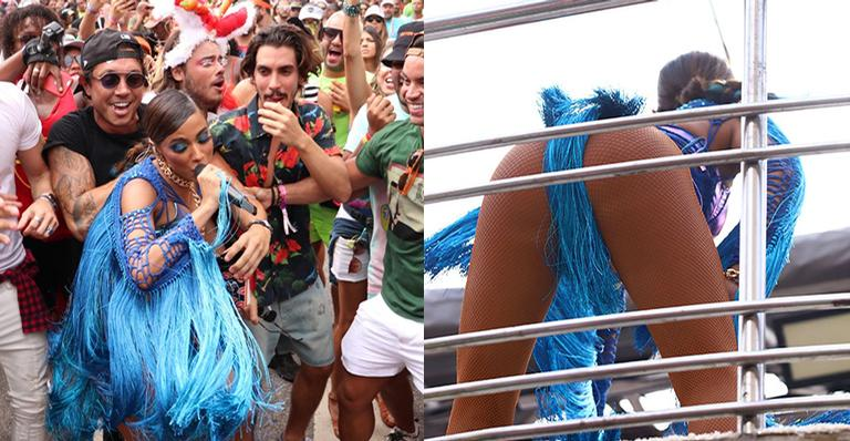 Com o namorado acompanhando tudo de pertinho, cantora agitou uma multidão no Rio