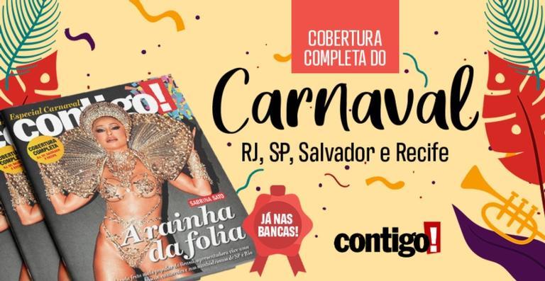 Em edição especial de Carnaval, Sabrina Sato estampa a capa da Revista Contigo!