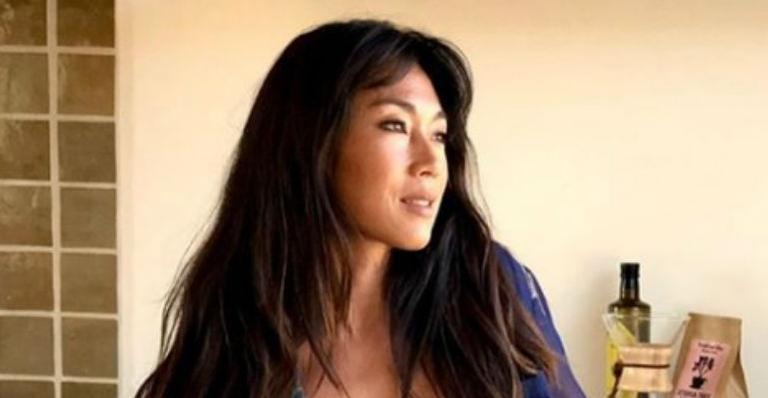 A atriz mostrou sua boa forma em clique e deixou internautas encantados com a beleza
